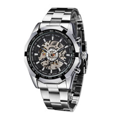 Lowest Price Winner Fashion Automatic Mechanical Watch Skeleton See Through Dial Self Winding Top Luxury Brand Men Wristwatch