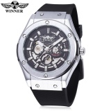Winner W2016060202 Male Auto Mechanical Watch Luminous Hollow Back Cover Nail Scale Wristwatch Intl Sale