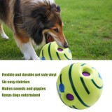 Cheap Wobble Wag Giggle Ball Dog Play Ball Training Sport Pet Toys With Funny Sound Intl