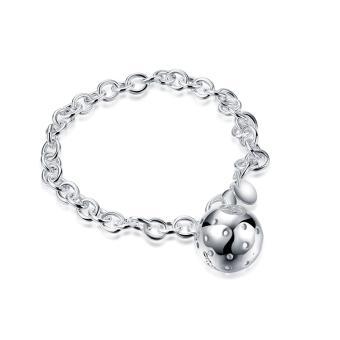 Women Ball Pendant Geometry Circles Bracelet Silver Plated Bangle Body Chain Jewelry Wristband