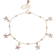 Women Charm Gold Starfish Chain Anklet Barefoot Sandal Foot Jewelry jewellery - intl