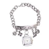 Women S Rhinestone Stainless Steel Chain Bracelet Wrist Watch Silver Intl Best Price