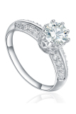Best Price Women S 925 Sterling Silver New Ring Fine Cz Jewelry Rhodium Plating Diamond Flower Cubic Zircon Stones R 0484 Intl