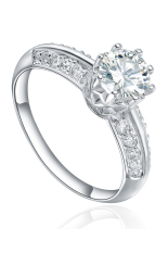Women S 925 Sterling Silver New Ring Fine Cz Jewelry Rhodium Plating Diamond Flower Cubic Zircon Stones R 0484 Intl Online