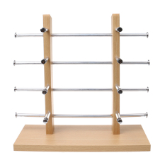Low Cost Wood Sunglass Glass Rack Frame Display Stand Holder Organizer Silver 4 Layer Intl