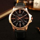 Retail Price Wrist Watch Men Top Brand Luxury Famous Male Clock Quartz Watch Golden Rose Gold Wristwatch Quartz Watch Relogio Masculino Intl