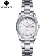 Price Wwoor Brand Date Day Silver Stainless Steel Quartz Watch Women Watches Ladies Analog Clock Girls Casual Wrist Watch Gift For Women 8804 Online China