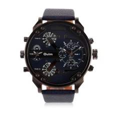 YBC Business Men Alloy Watches Leather Band Personality Quartz Watch Wristwatch - intl