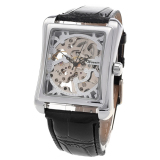 Discount Yika Men S Black Leather Skeleton Mechanical Wrist Watch Black Gold Yika China