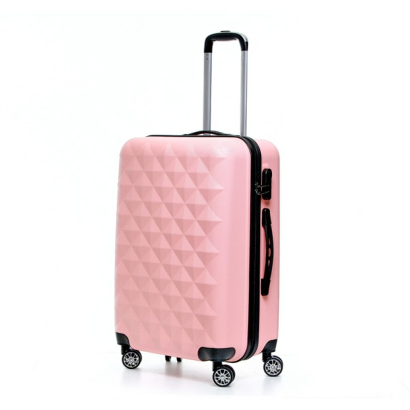 BLMG Zenia Cube Luggage 28 Inches - Baby Pink (Free Delivery)