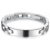 Price Zuncle Black Carbon Fiber Titanium Steel Men S Classic Wristband Bracelet Jewelry Wholesale Zuncle Original