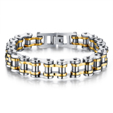 Compare Zuncle Men Titanium Steel Individuality Motorcycle Chain Bracelet Gold