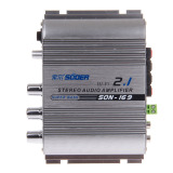 Best Reviews Of Zuncle Suoer Son 169 300W Multifunction Stereo Car Audio Power Amplifier Silver