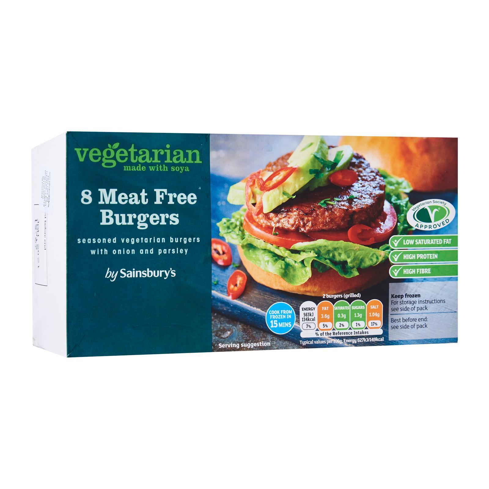 Sainsbury's Meat Free Burgers - Frozen