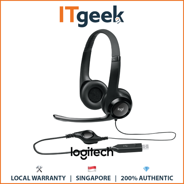 (48hrs Delivery) Logitech USB Stereo Headset (H390) Singapore