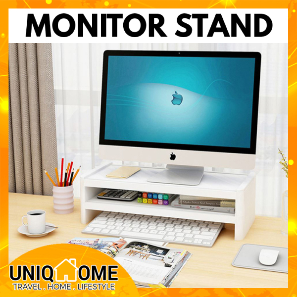 Uniqhome PC Monitor Stand computer stand Single Tier Dual Tier Table Organizer Table Organiser Office Table Organizer Office table Organiser Blue Color