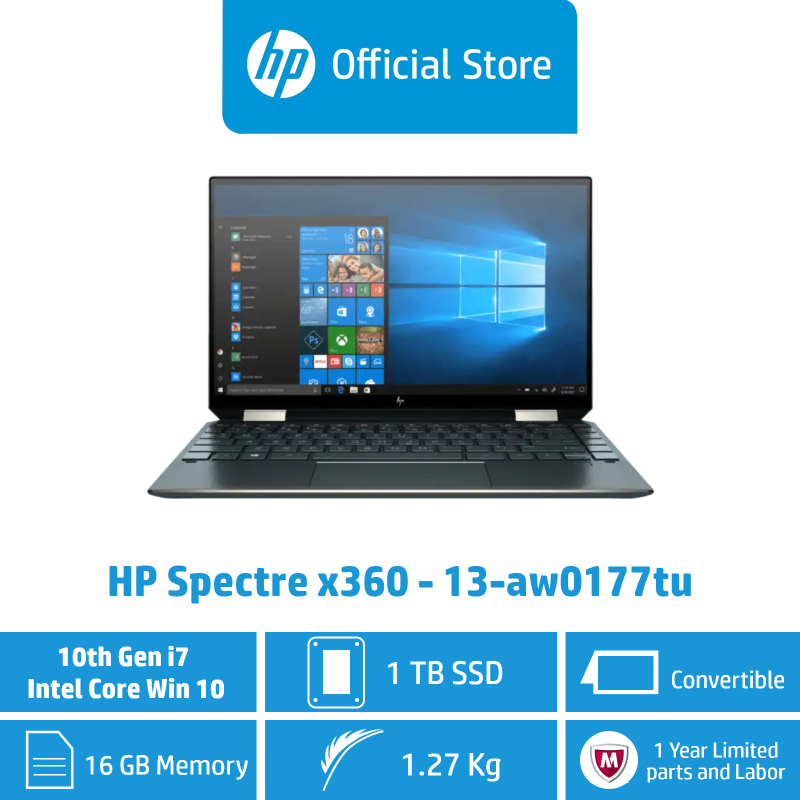 HP Spectre x360 Convertible 13-aw0177TU / Intel® Core™ i7-1065G7 / 16GB RAM / 1TB SSD / Convertible / Touchscreen / Light / Long Battery Life