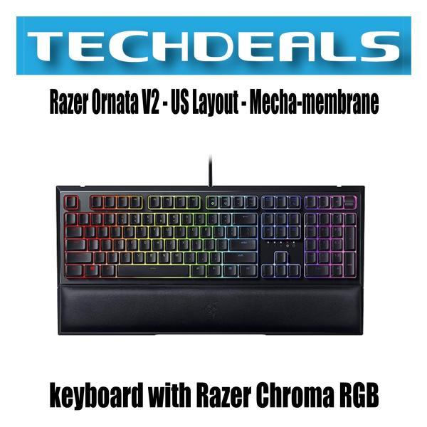 Razer Ornata V2 - US Layout - Mecha-membrane keyboard with Razer Chroma RGB Singapore