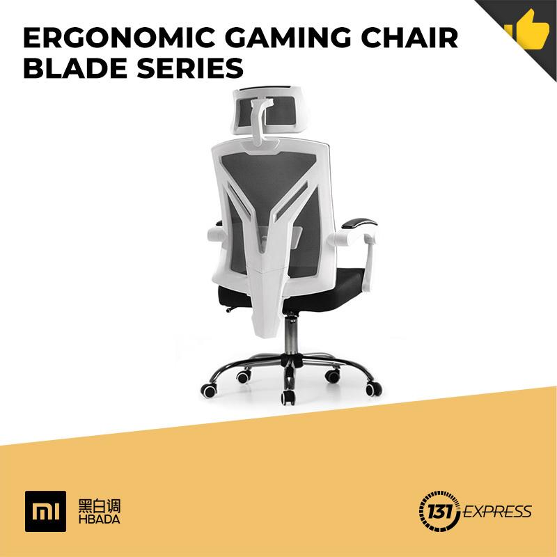 Xiaomi Hbada Ergonomic Gaming Chair Blade Series [ 2 Models, 155° Reclining, Headrest, Lumbar Support, Linkage Armrest, Foot, Leg-rest, Breathable, Mesh, 8cm Sponge, Low Noise, Soft, Comfortable, Skin-Friendly, SGS Gas Lift, Durable, Sturdy, Steel Base ]