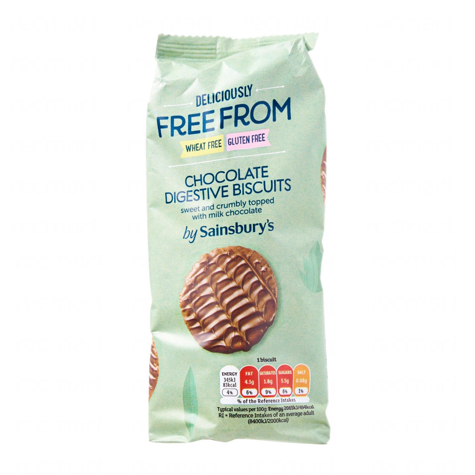 Sainsbury's Free From Chocolate Digestives