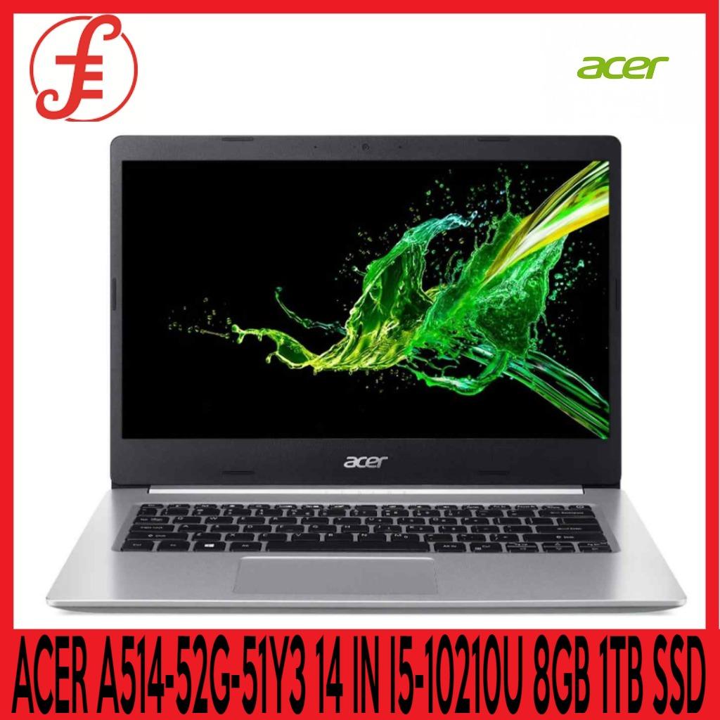 ACER A514-52G-51Y3 14 IN INTEL CORE I5-10210U 8GB 1TB SSD WIN 10 HOME (A514-52G-51Y3 )