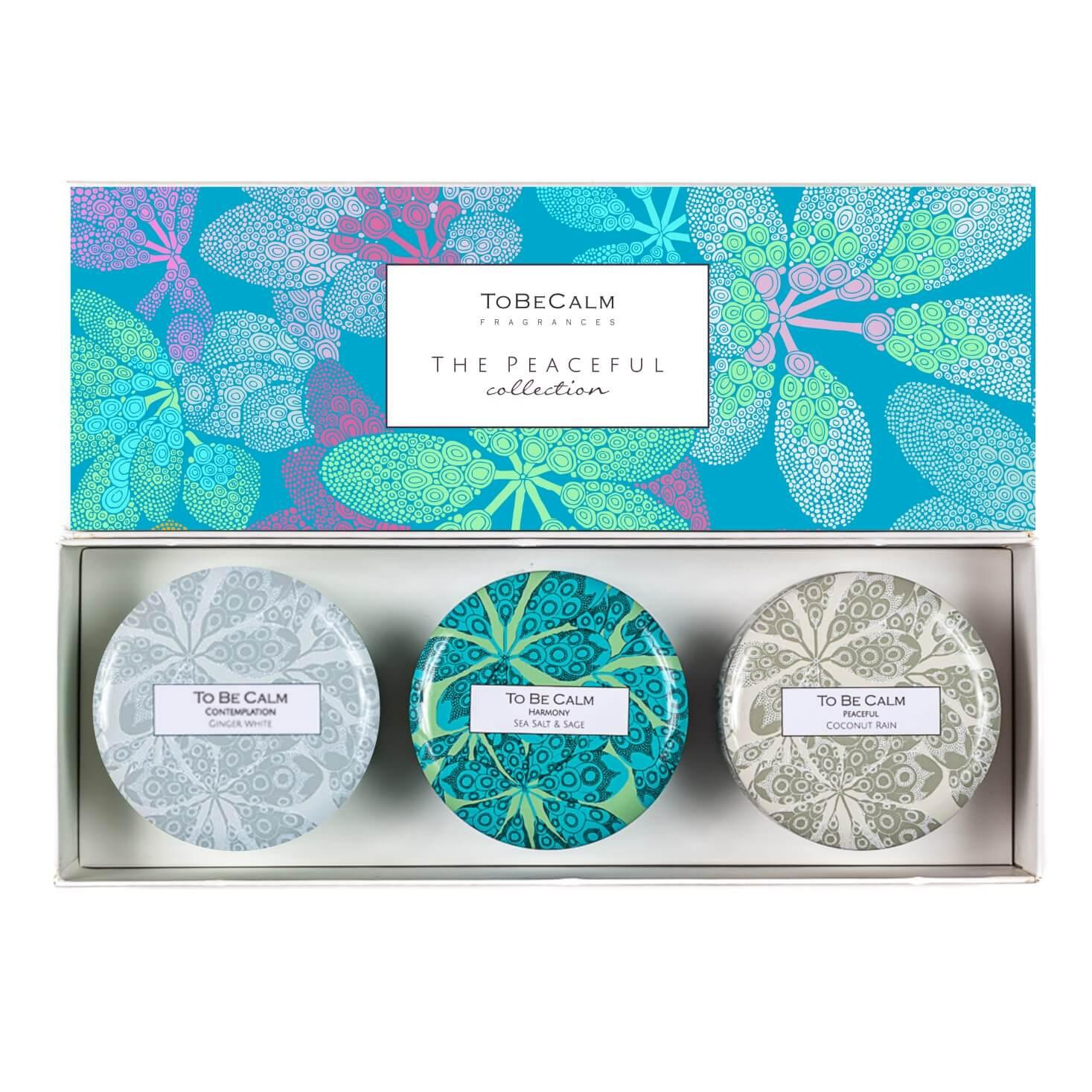 To Be Calm Peaceful Collection - Mini Candle Trio