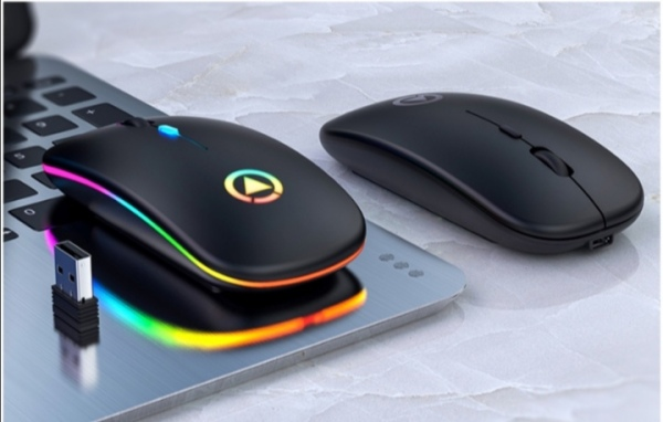 Rechargeable Wireless Mouse with Colourful Light