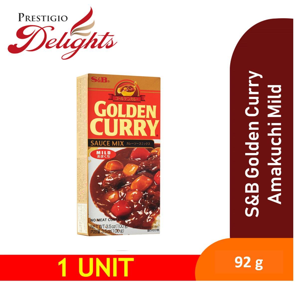 S&b Golden Curry Amakuchi Mild Instant Curry 92g By Prestigio Delights.