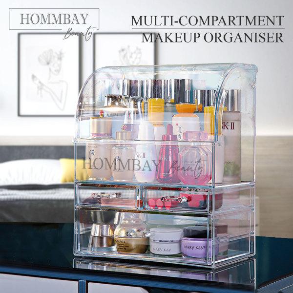 Buy [HOMMBAY Beauty] Makeup Make up Faux Acrylic Clear Transparent Lipstick Cosmetic Brush Brushes Jewellery Jewelry Earrings Bracelets Rings Organiser Organizer Drawer Storage Box Holder I 1868 Singapore