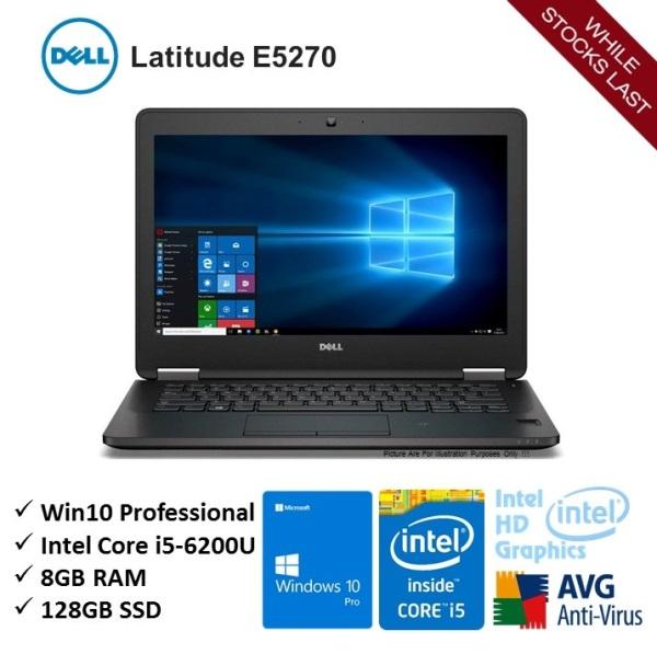 [Refurbished] DELL Latitude E5270 Intel Core i5 6 Gen 6200u 8gb 128gb ssd w10p home & business 12.5 inch notebook laptop - Ready Stock