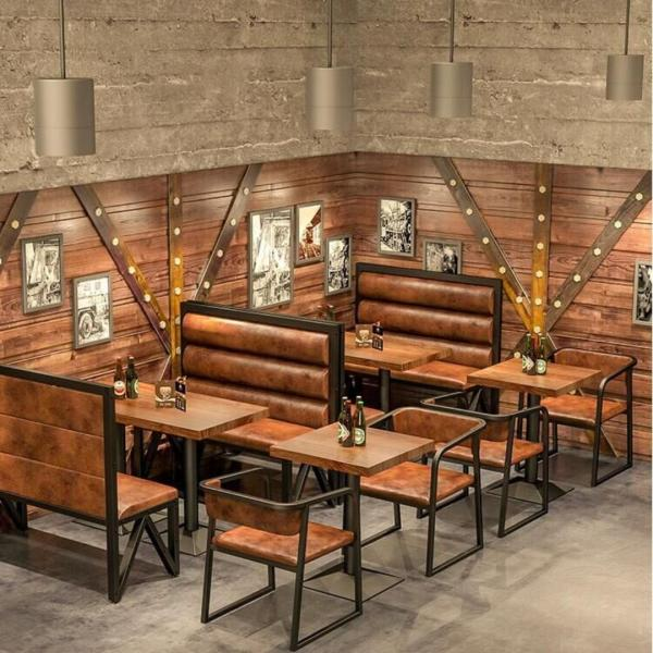 KZ 003 Cafe/Pub/Restaurant Dining Bench with Backrest