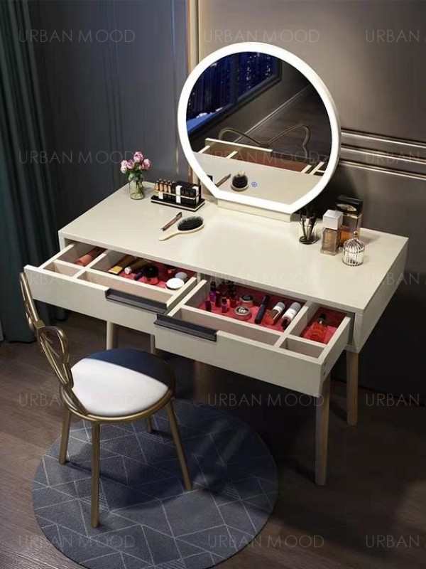 KARRIE LED Dressing Table With Mirror