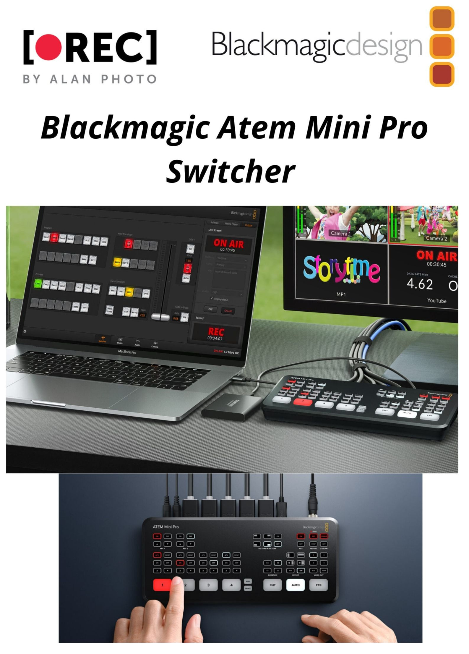 Blackmagic Design Atem Mini Pro.