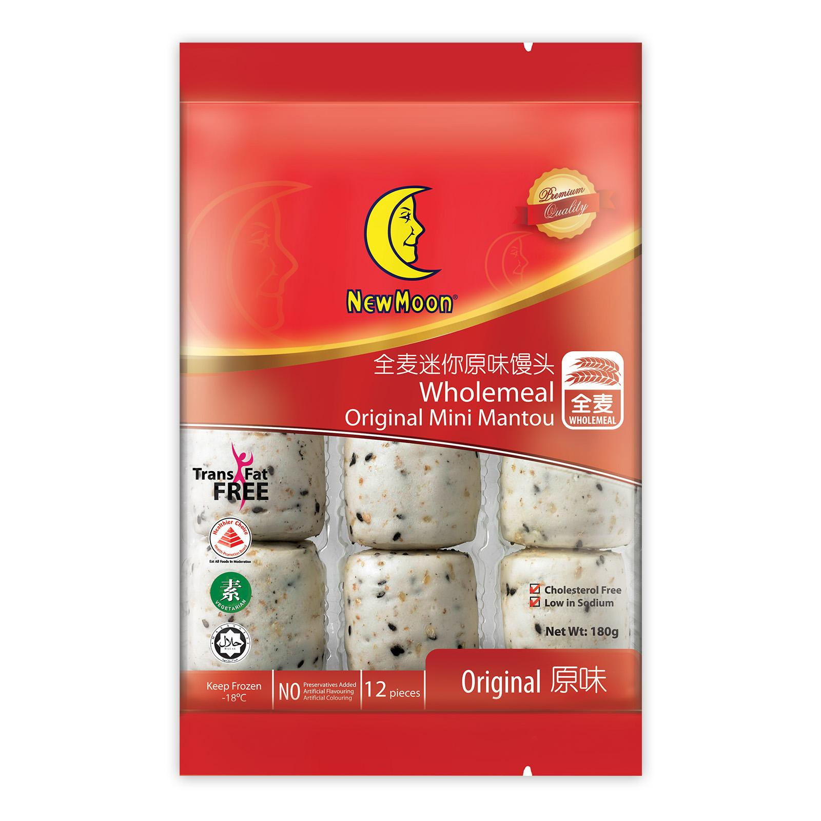New Moon Wholemeal Original Mini Mantou - Frozen By Redmart.