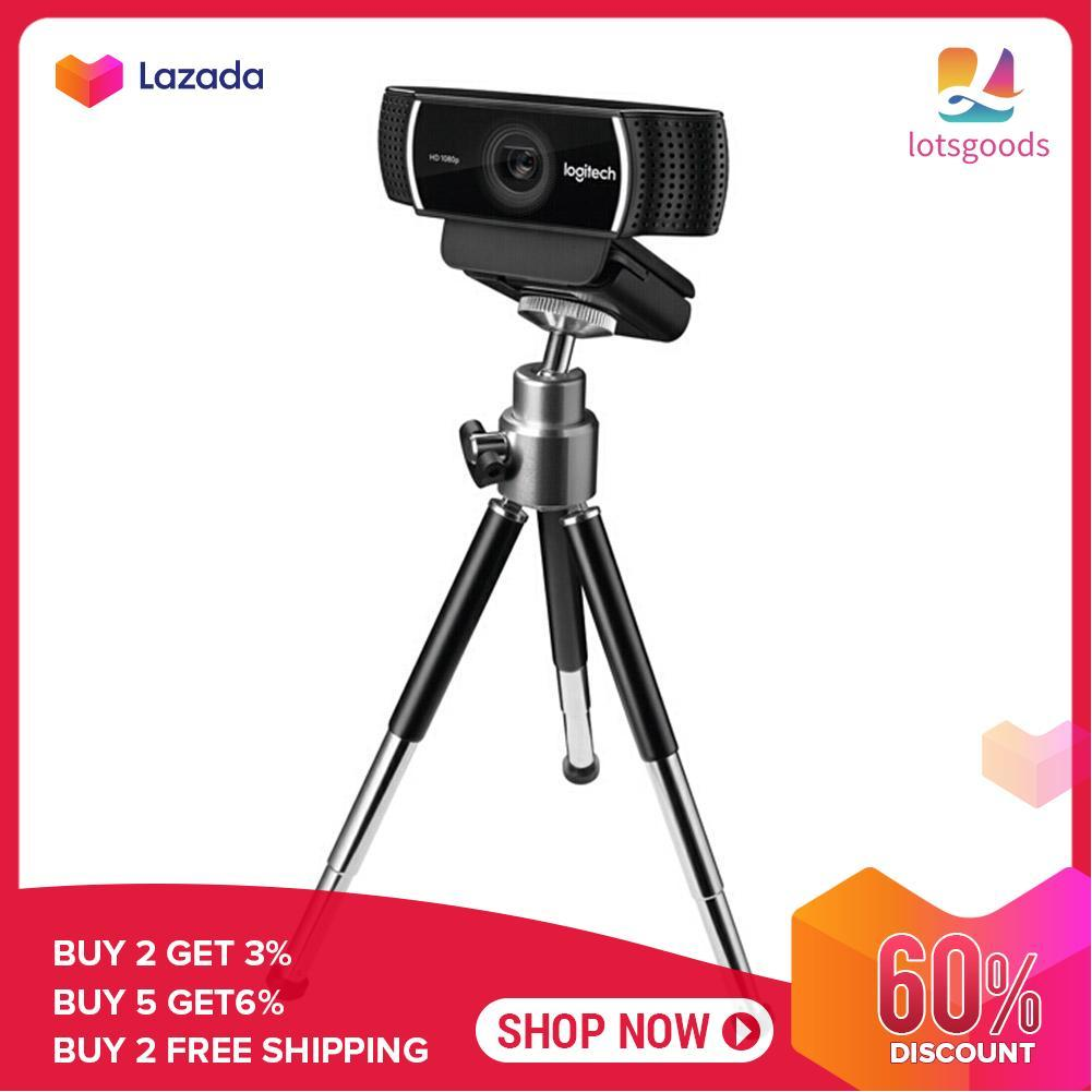 {9.9 Hot Sale Festival}lotsgoods C922 Pro Webcam Built-in Microphone 1080P 30FPS Full HD Anchor Camera with Tripod