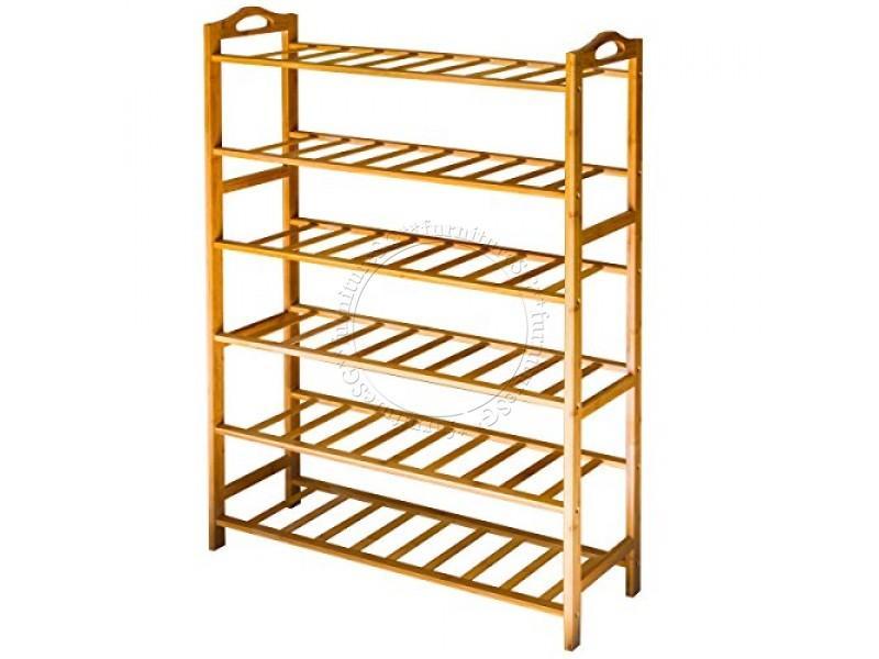 (FurnitureSG) Bamboo Shoe Rack