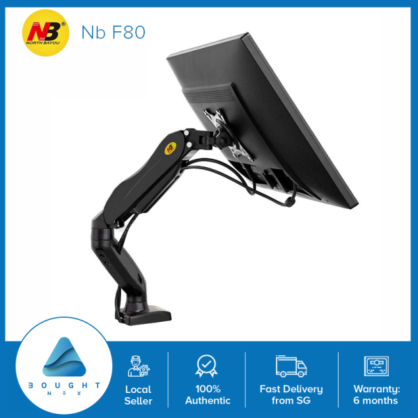 NB North Bayou F80 Monitor Desk Mount Stand Full Motion Swivel Monitor Arm with Gas Spring for 17-30Monitors(Within 2kg to 9kg) Computer Monitor Stand F80