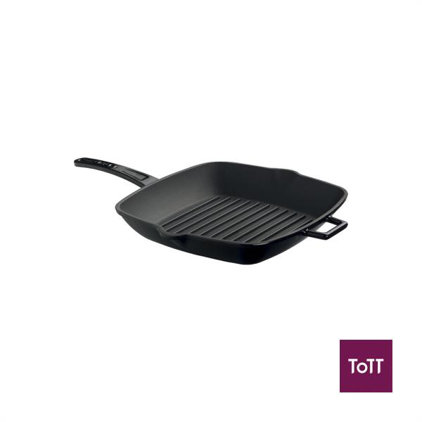 Lava Cast Iron 26cm Sq Grill Pan Black Singapore