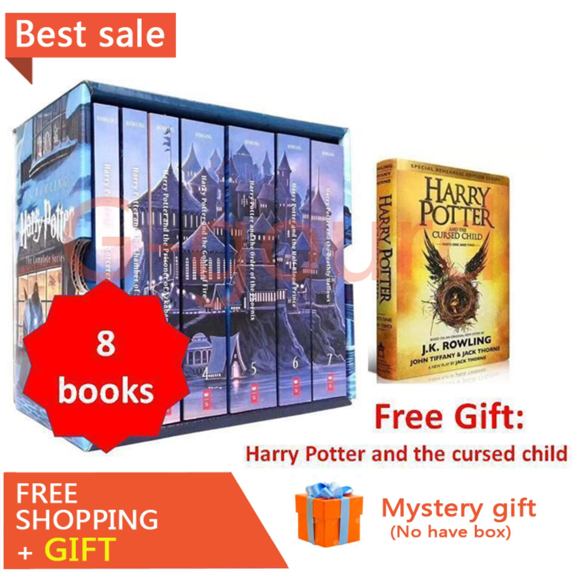 8 Books/ Set Harry Potter Books Adult Foreign Novels English Story Book for Kids Spell Book English Reading Books for Kids Children Gifts