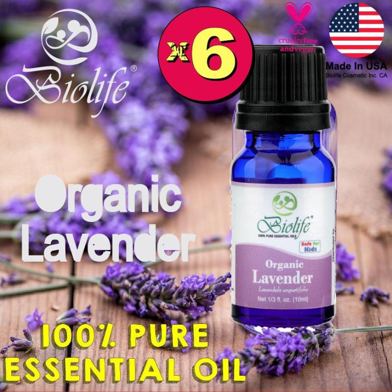 Buy (Bundle of 6 Bottles) Biolife Organic Lavender, 100% Pure and Natural Organic Essential Oil (Made In USA), 10ml Bottle Singapore