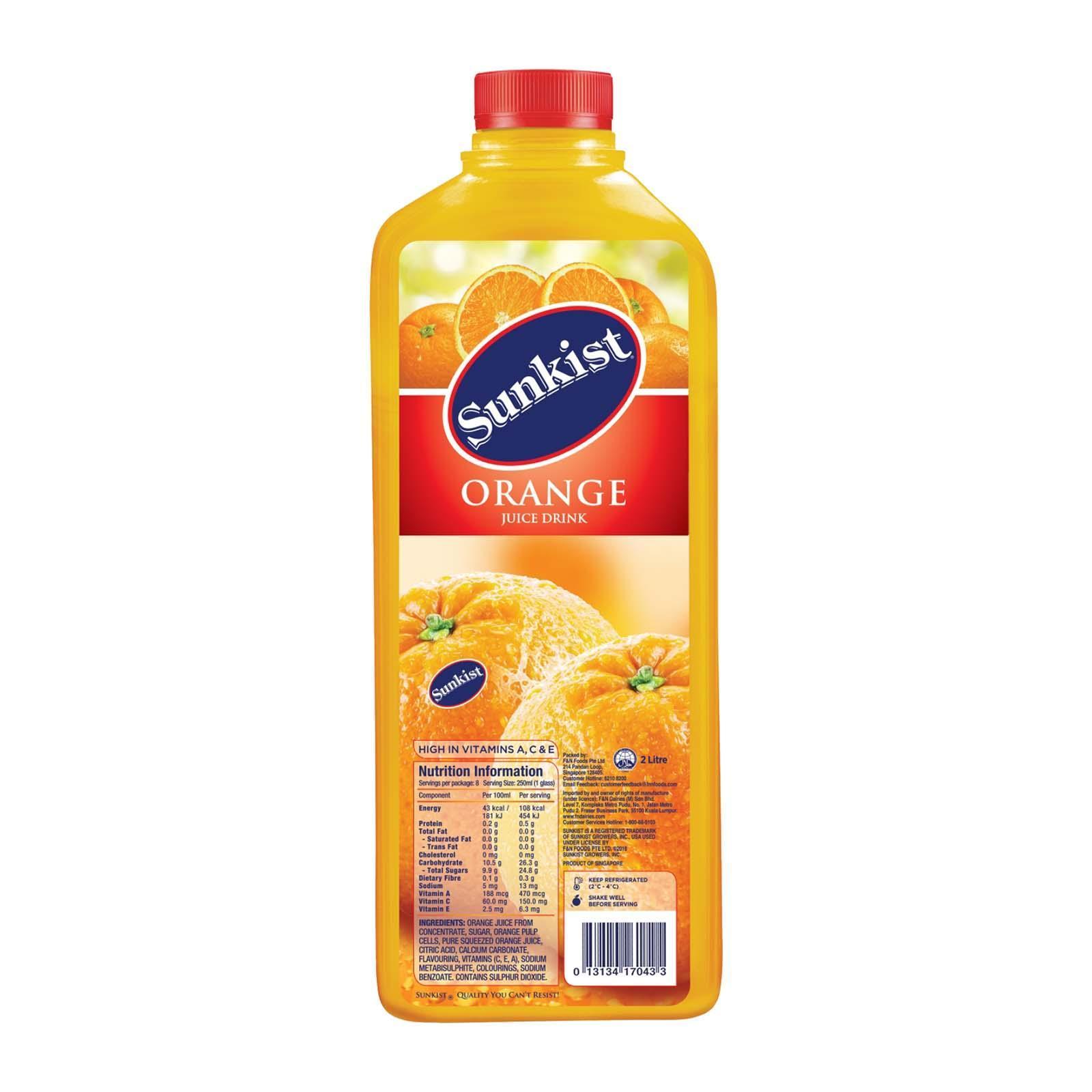 SUNKIST Orange Juice Drink 2L
