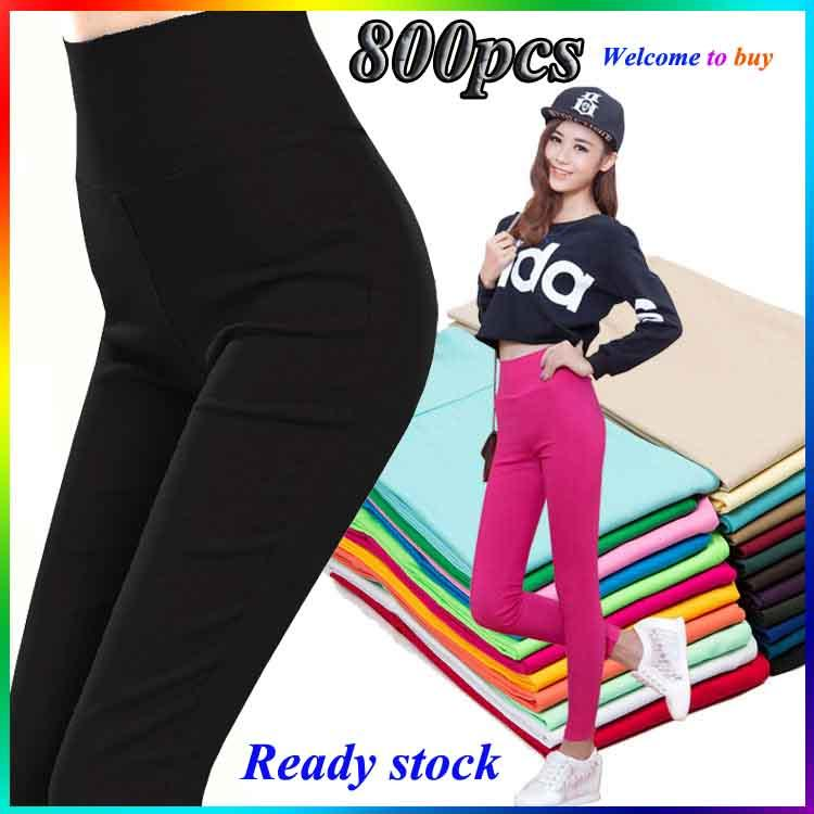 f2041fbfc543 Free Shipping Women Slim Waisted Feet Leggings Wear Tight Size Nine Pants  Thin Trousers - intl