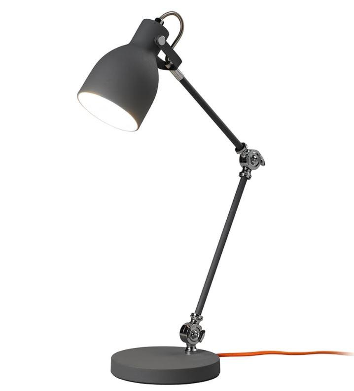 Wild & Wolf - Wild Wood Task Desk Lamp - Concrete Grey (Brand new, box dented)