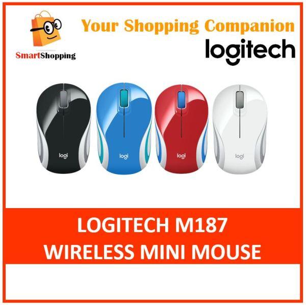 Logitech M187 Wireless Mini Mouse - Black Red White Blue wifi Singapore warranty