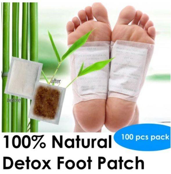 Buy 100pcs (50 pairs) Detox Foot Patch / 100% Natural / Foot Pad / 排毒足贴 Singapore