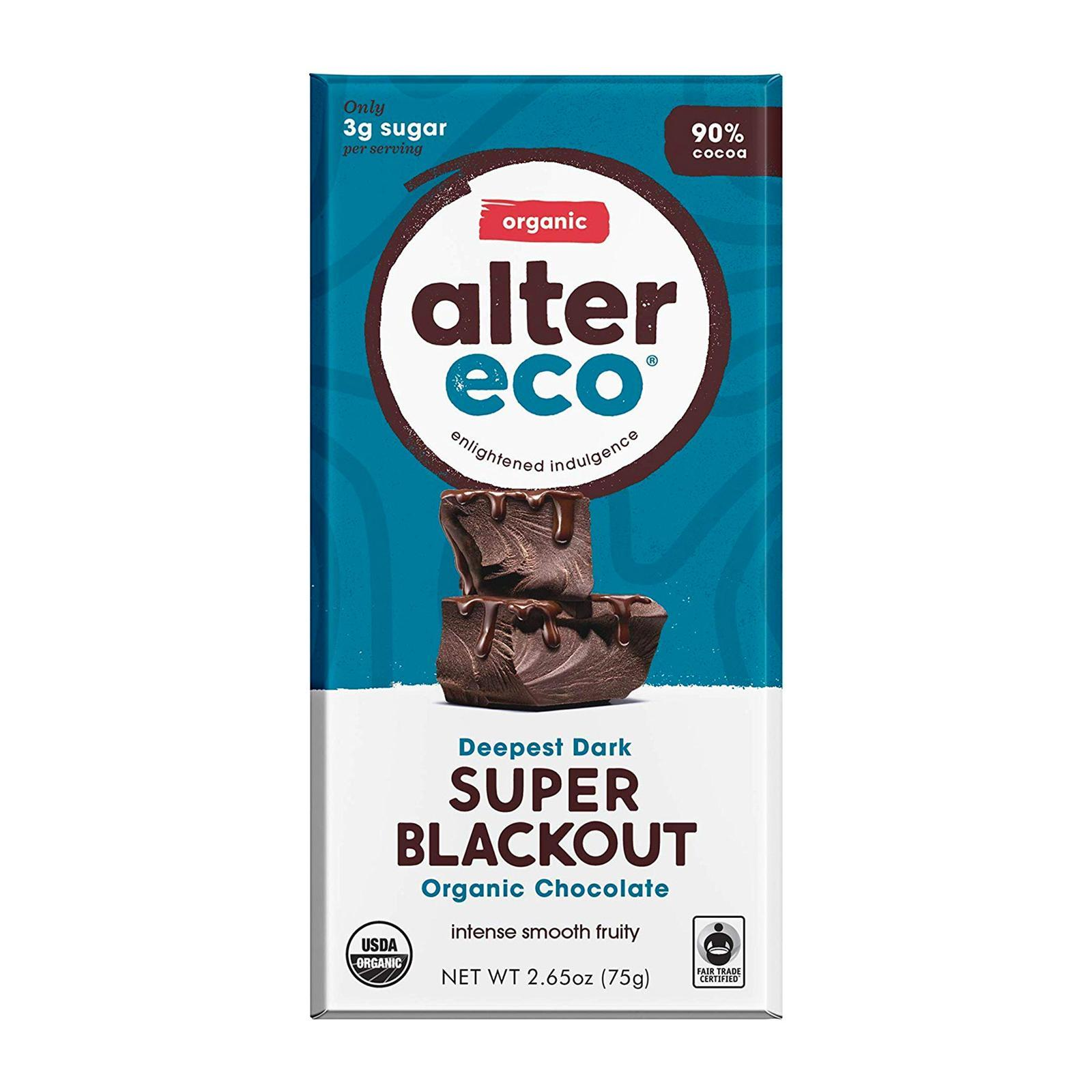 Alter Eco Organic Deep Dark Super Blackout Chocolate - By Wholesome Harvest