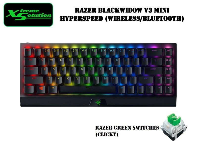 Razer Blackwidow V3 Mini Hyperspeed - Wireless 65% Keyboard (Razer Green / Razer Yellow) Singapore