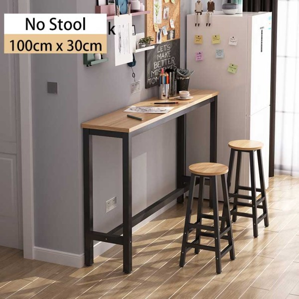 Longines Mini Bar Home Tall High Table Office Dining Work Study Cocktail Table Chair 100cm 120cm 140cm 160cm with Leg Rest  [3 Weeks Delivery]
