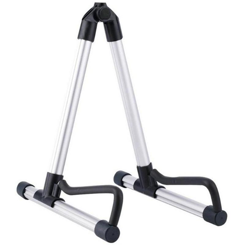 Professional Electric Guitar Stand Universal Folding Electric Acoustic Bass Stand A-Frame Musical Rack Holder Guitar Accessories