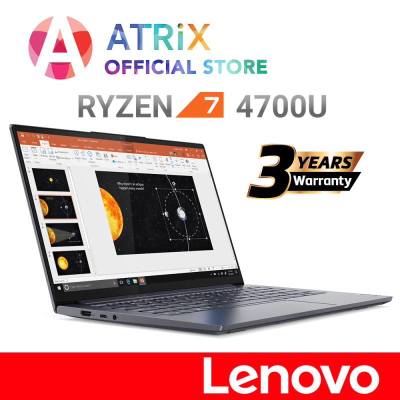 【Same Day Delivery】World premiere | Lenovo IdeaPad Slim 5〖Free Office〗14.0 FHD IPS 300nits | Ryzen 7 4700U (8cores / 8 threads, 4.1GHz) | 16GB DDR4-3200 | 512GB PCIE SSD | AMD Radeon Graphics | Free extended 3Yr Lenovo On-Site Warranty worth $189